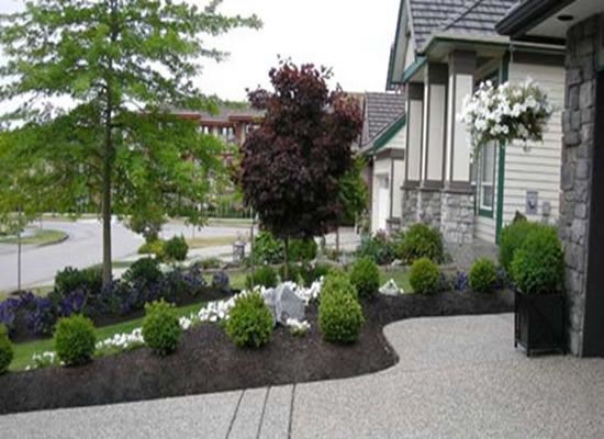Simple landscape designs for front yards simple small for Simple front yard landscaping