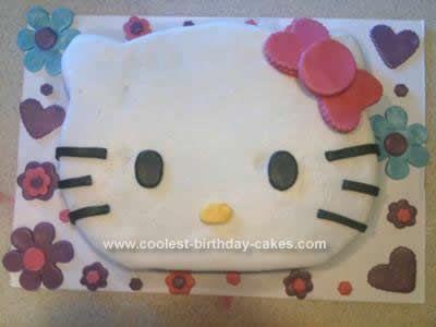 Homemade Hello Kitty Cake Idea I made this Hello Kitty Cake Idea