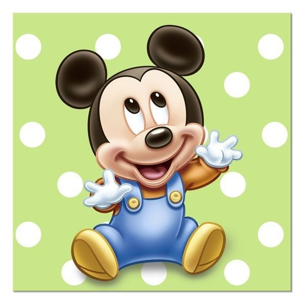 Disney Mickey Mouse 1st Birthday Party Dessert Beverage Napkins