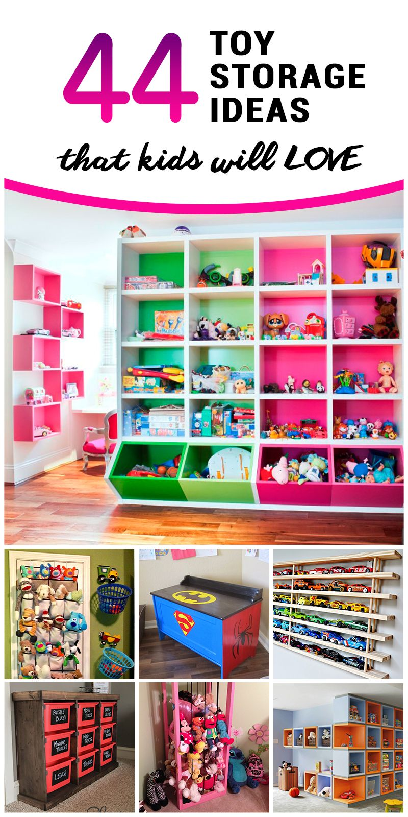 44 Best Toy Storage Ideas That Kids Will Love Living Room
