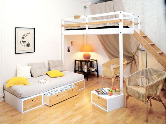 Lits mezzanine : prenez de la hauteur - Elle Décoration | Lits ...