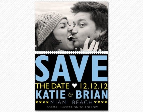 Save the date magnet!  Great idea. #wedding
