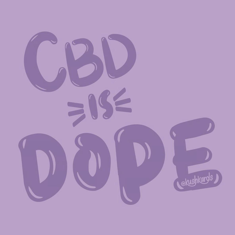 Cannabidiol is DOPE! 💜🖤💨 . . . #cbd #cbdhealth #cbdproducts #cbdtea #cbdoil #cbdfarms #cbdwellness #cbdlife #cbdflowersbulkproduction #cbdflowers #cbdcoffee #cannabiscommunity #canna #cannabisculture #cannabissociety #thc . . . Follow us on Instagram @kushkards @kushkuotes