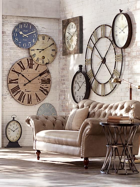 Pin By Marilyn Downen On Cool Stuff Large Wall Clock Decor Clock Decor Home Decor Living room accessories wall clock
