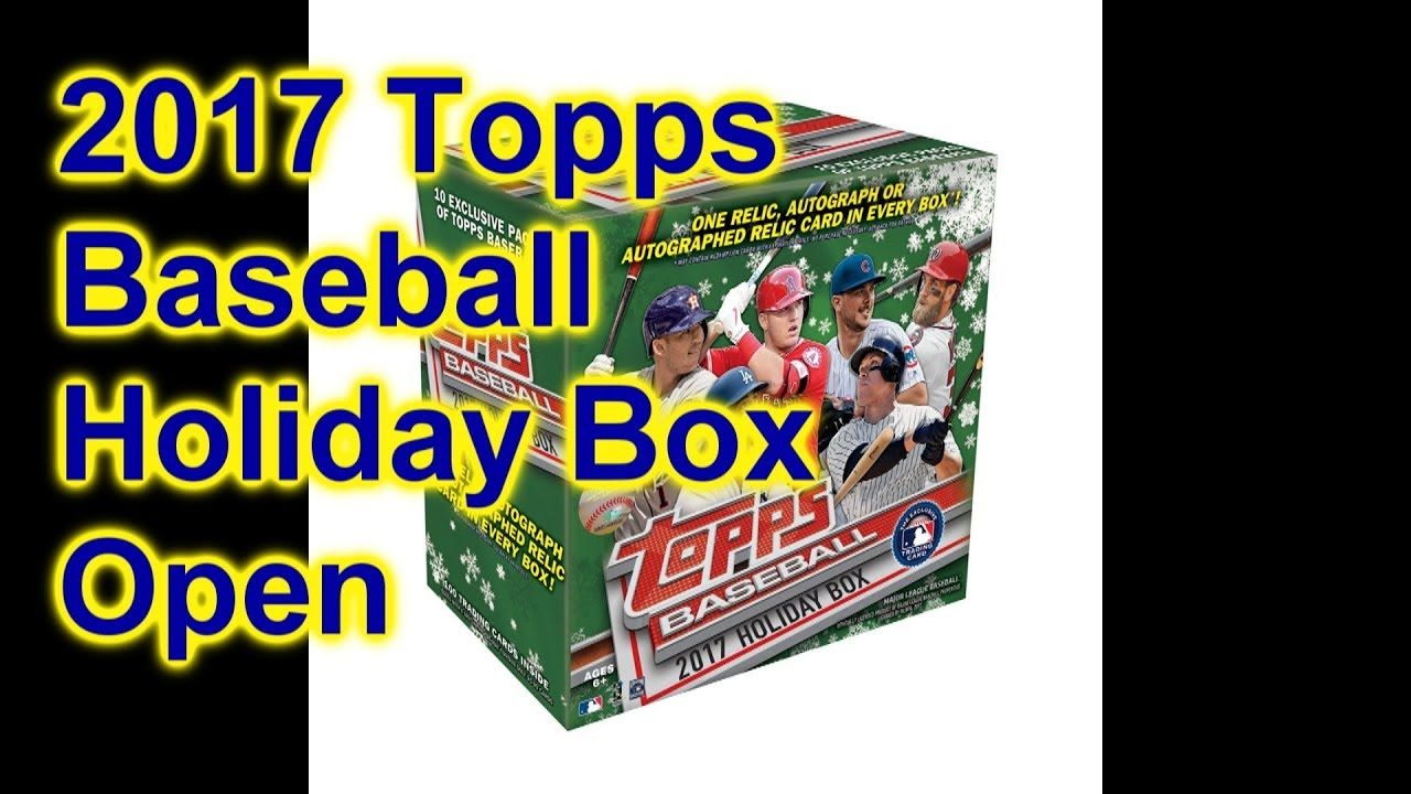 2017 Topps Baseball Holiday Mega Box Break Open All 10