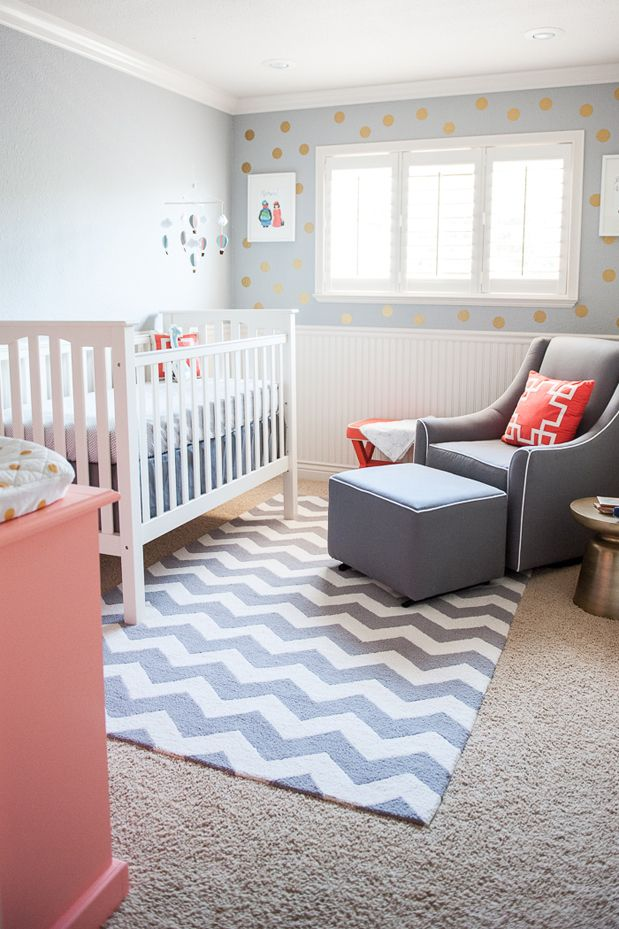 Love The Colors And Patterns In This Baby Room
