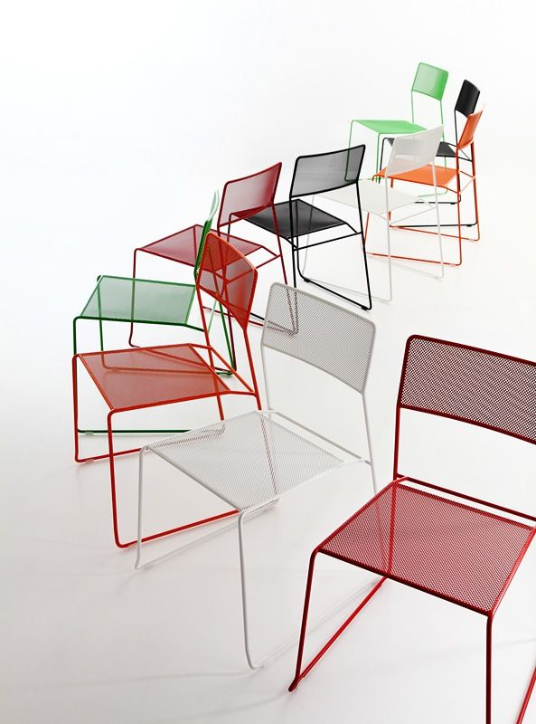 Charming Picture Of Log Mesh, Metal Dining Chairs