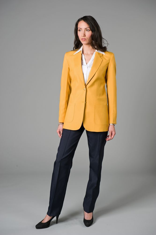 Images of Gold Blazer Womens - Reikian