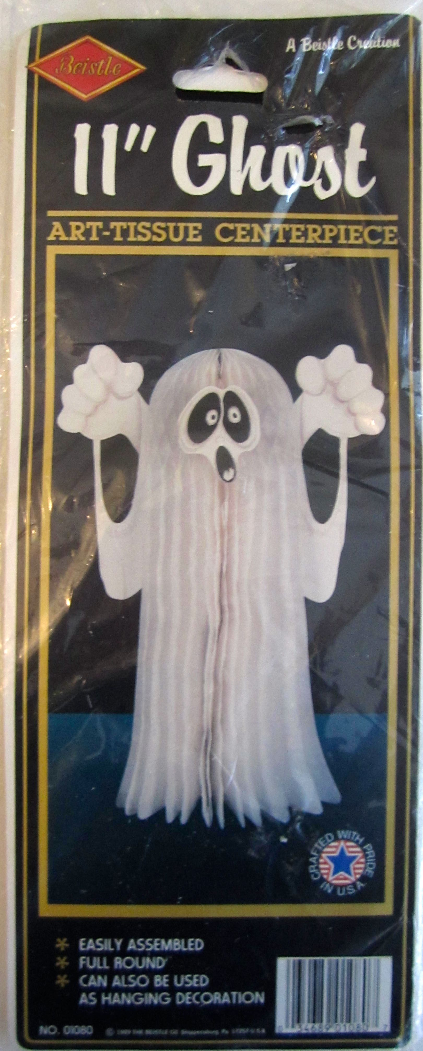 Vintage Beistle Ghost Art Tissue Centerpiece Halloween Decoration From The