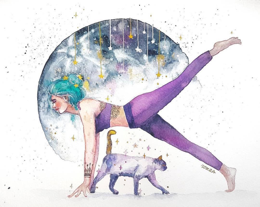 Картинки йога и рисование