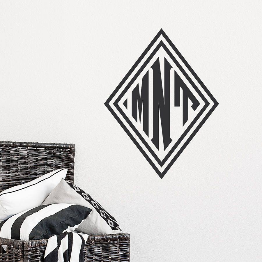 Diamond Monogram Wall Decal