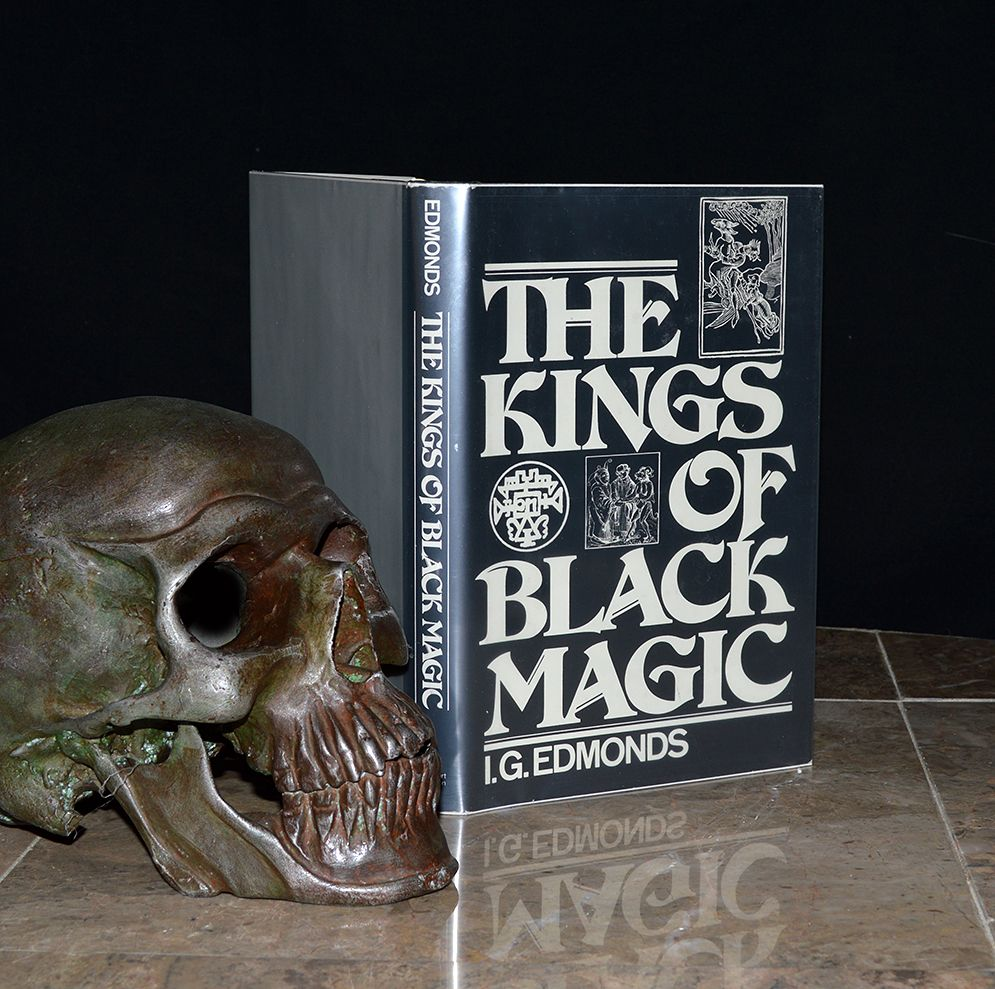 """""""The Kings of Black Magic"""" - 1981 unstated 1st edition from the personal library / collection of Steven F. Christensen - a Mormon businessman who was killed by a mail bomb in October of 1985. His murderer, Mark Hofmann, was a prolific forger dealing in historical documents with a focus on the early LDS / Mormon transcripts. Very intriguing book with a wonderfully bizarre backstory! etsy.com/shop/CosmicLibrary"""