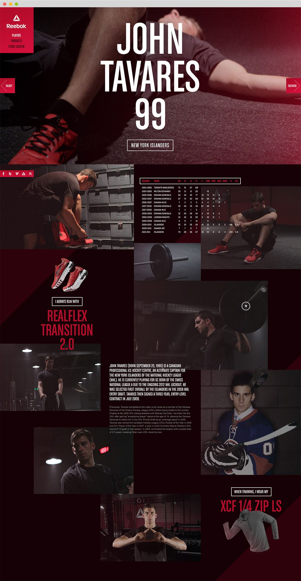 Reebok Training - Live with Fire on Behance