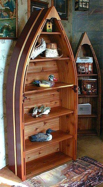 Canoe U0026 Boat Furniture Decor Catalog   Cabin Furniture, Cottage Furniture,  Cabin Decor, Cottage Decor   Beanu0027s Boats  I Love Canoe Shelves!