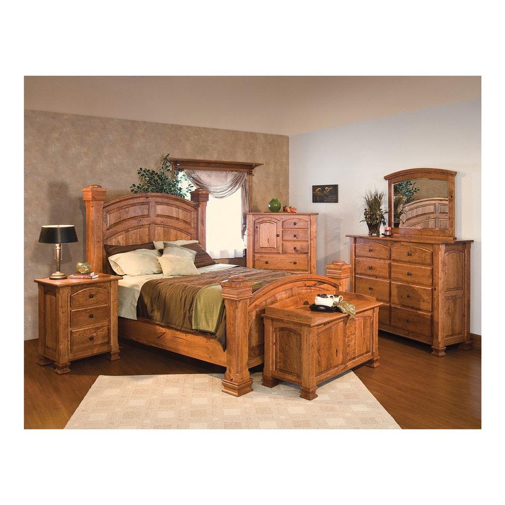 Charleston Bed Rustic Bedroom Furniture Oak Bedroom Furniture Wood Bedroom Furniture Sets
