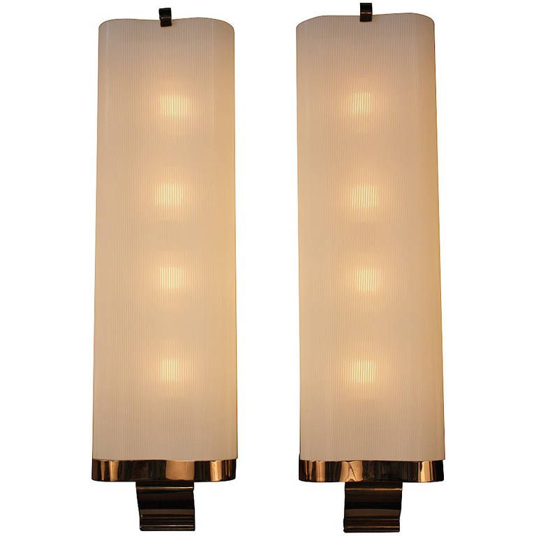 Rare Large Art Deco Wall Sconces | Deco wall, Modern wall and Wall ...