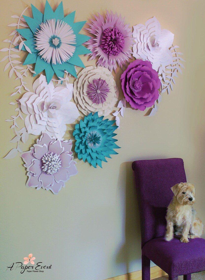 Paper Flower Backdrop Giant Paper Flower Wedding Backdrop Wedding