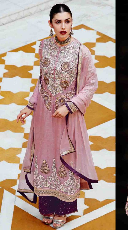 b2aef1eb91 Pink Banarasi Silk Pakistani Style Suit 48069 | Bakistan clothes ...
