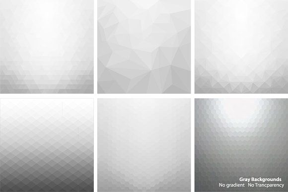Gray abstract vector backgrounds. by ExpressShop on @creativemarket