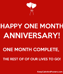 Image result for happy anniversary 1 month | Happy ...