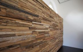 Houtrestjes Als Wandbekleding Wandverkleidung Holz Wandpaneele Holz Wandverkleidung
