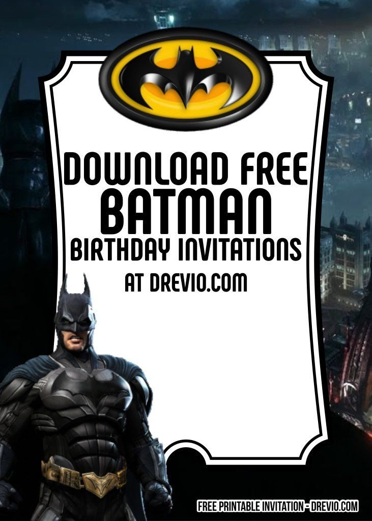 Free Batman Invitation Template Unique 8 Free Batman ...