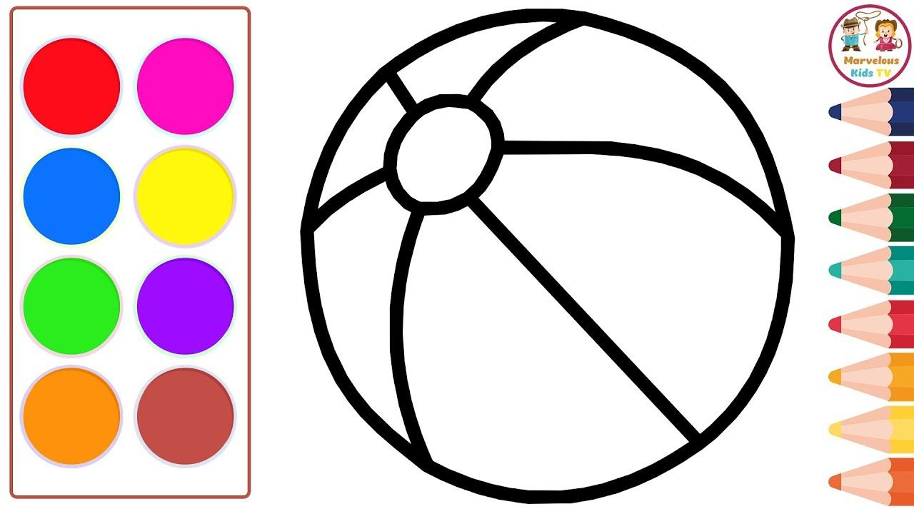 Drawing And Coloring Volleyball How To Draw Volleyball Drawing And Coloring For Kids Volleyball Drawing Drawings