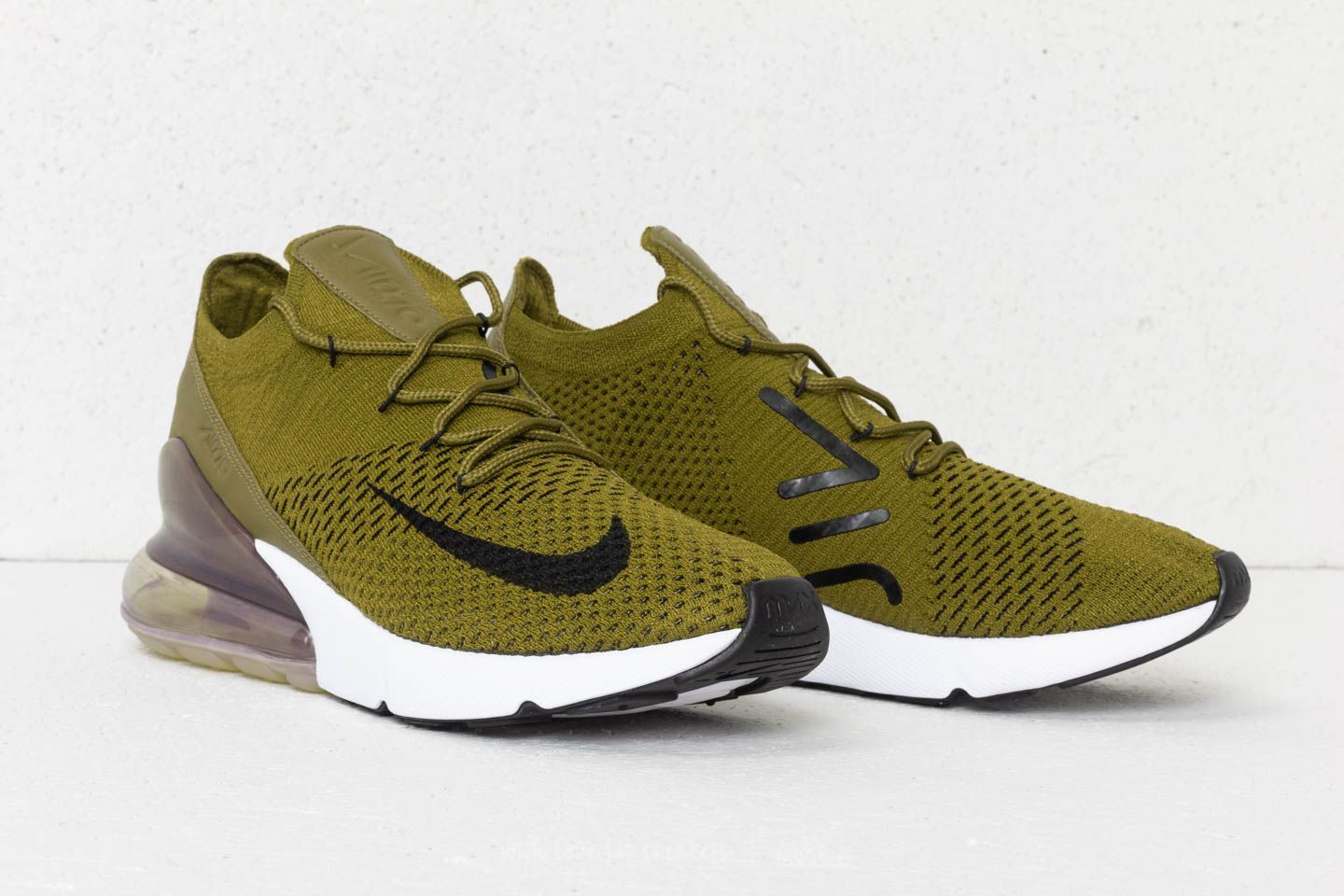 sneakers for cheap be031 ded93 Nike Air Max 270 Flyknit Olive Flak  Black-Sepia Stone    211   nike  airmax   running  olive  sneakers