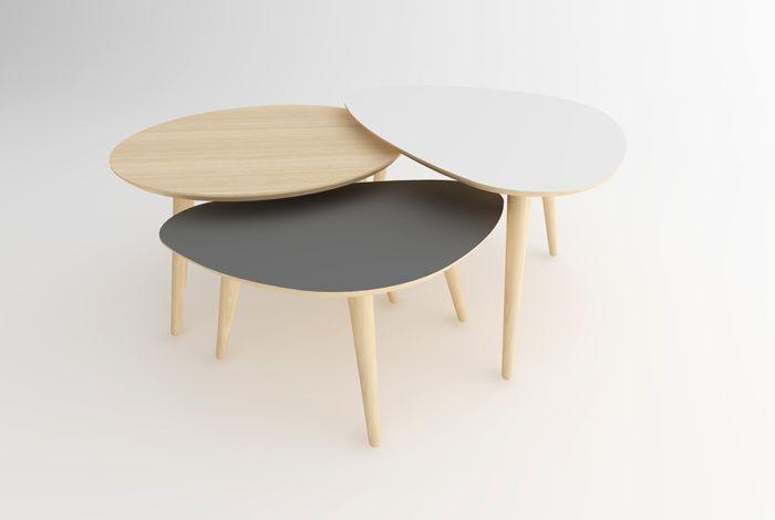 Tables Basses Trio Ref Tbt S 03 Gentlemen Designers Table Basse Gigogne Table Basse Table Basse Galet