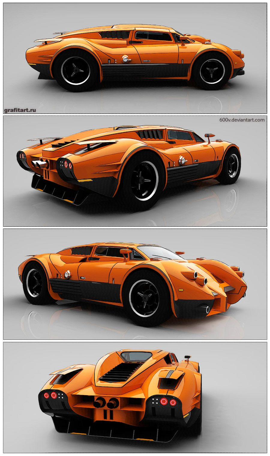 Slick Car Concepts By 600v Concept Cars Futuristic Cars Car