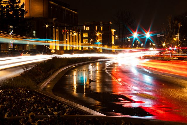 Scramble Light At Night Ball State University Education Redefined University College Education