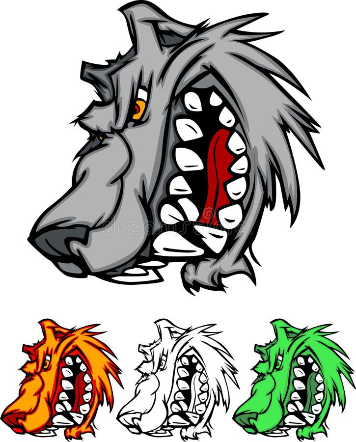 Wolf Mascot Vector Logo. Vector Images of Wolves Mascot