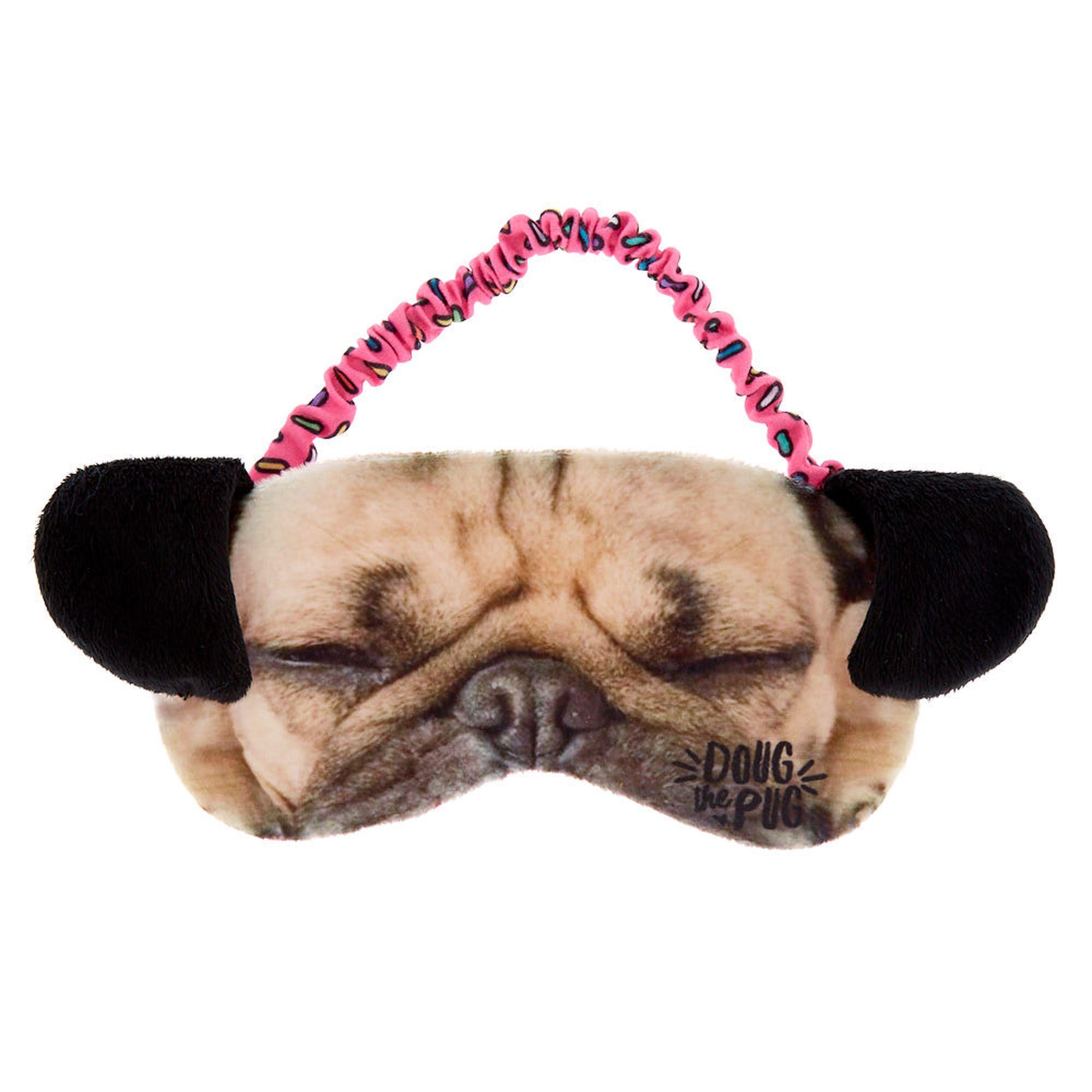 Doug The Pug Sleeping Mask Brown Fashion Accessories Jewelry