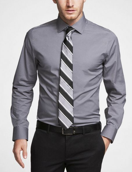 bichromatic tie matching shirt tie stripe and pants tie