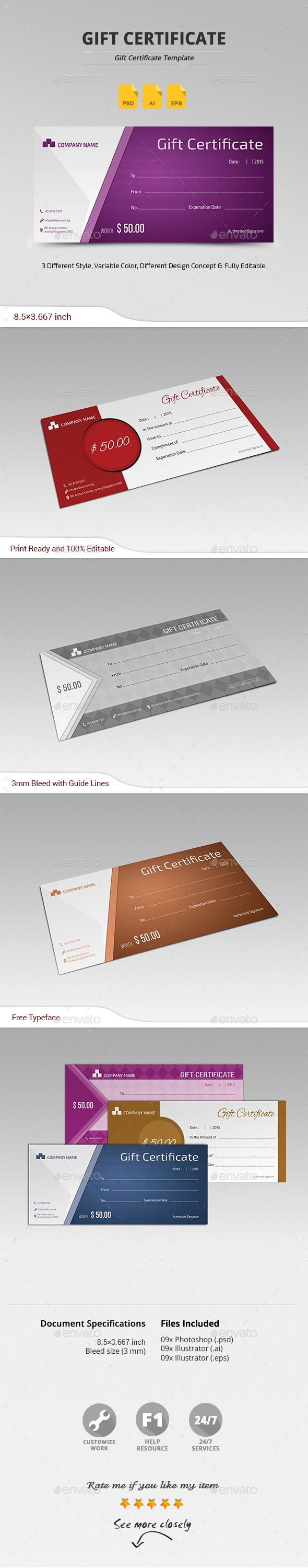 Gift Certificate Template Psd Download Here Httpgraphicriver
