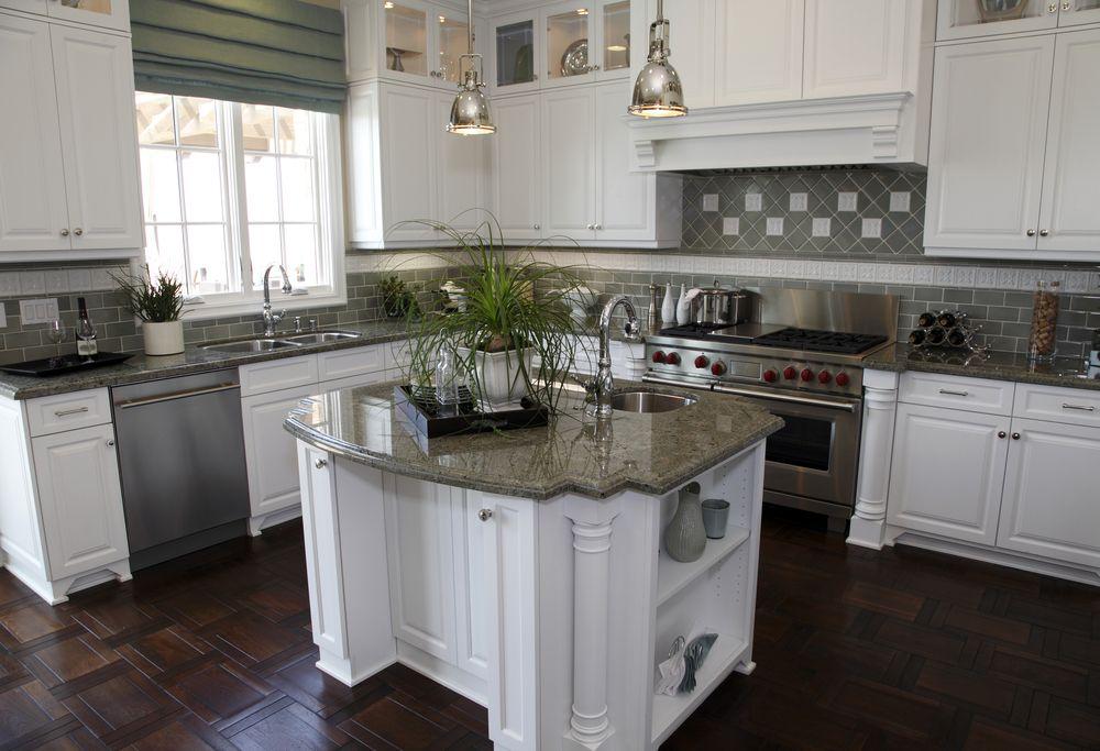 501 Custom Kitchen Ideas for 2017 (Pictures) Green kitchen, Floor