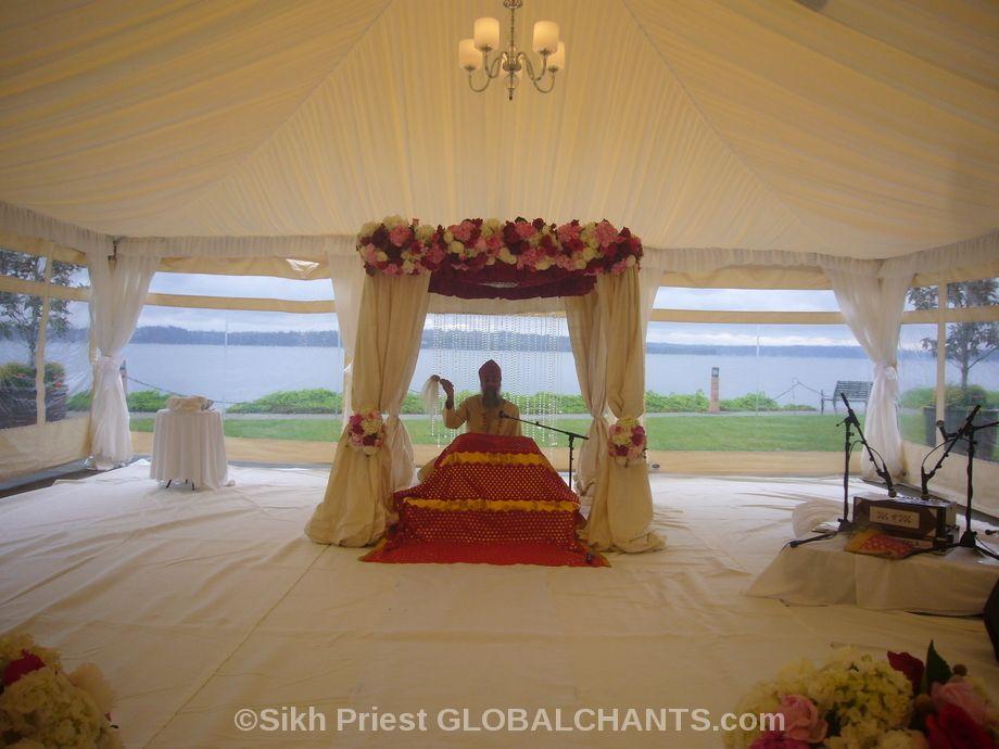 Sikh Wedding Destination USA Indian wedding Decor for Sikh