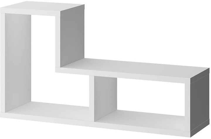 Tvilum Stewart White 2 Shelf Bookshelf