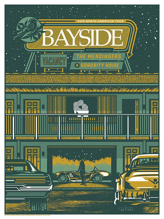 Bayside Vacancy Tour 2016 Gig Tour Poster by RocketsAreRed