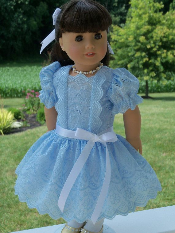 American Girl Doll Clothes / Special Occasion Dress and Petticoat ...