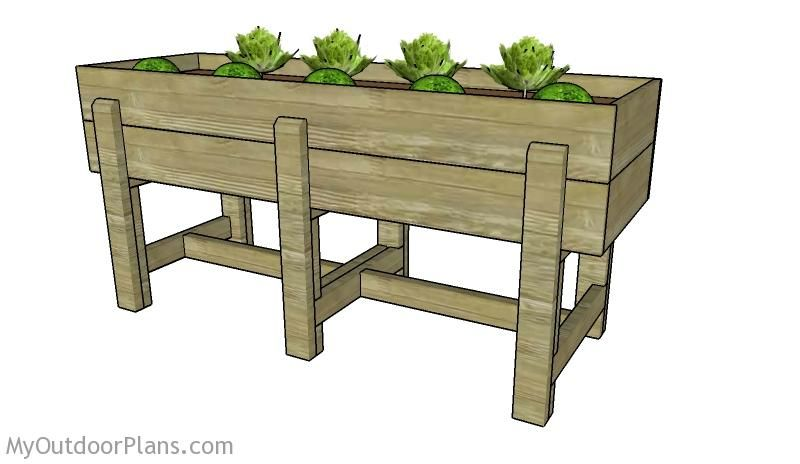 Elevated garden bed plans planter box plans pinterest elevated elevated garden bed plans solutioingenieria Image collections