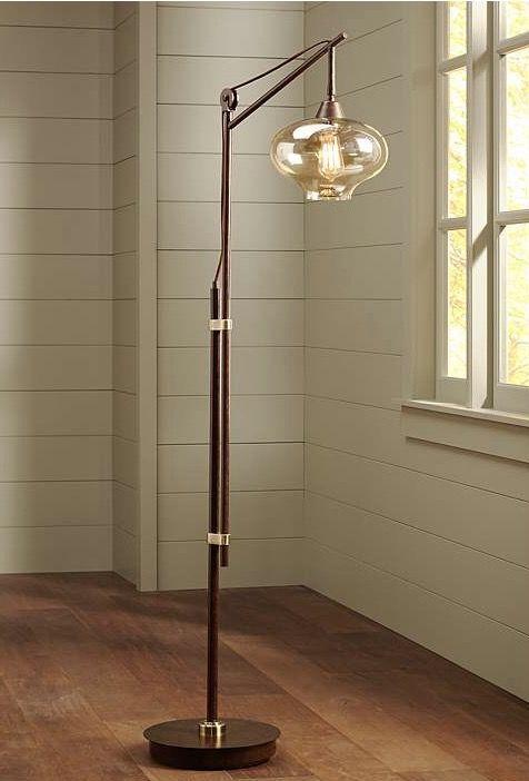 Calyx Cognac Glass Floor Lamp Httpwwwlampsplusproducts Amazing Dining Room Floor Lamps Decorating Design