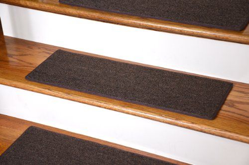 "Dean Non-Slip Tape Free Pet Friendly DIY Carpet Stair Treads/Rugs 27"" x 9"" (15) - Color: Brown Dean Flooring Company http://www.amazon.com/dp/B00G1311AI/ref=cm_sw_r_pi_dp_9aKvub0S61TDR"