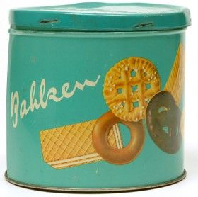 old cookie tin, bahlsen-1950