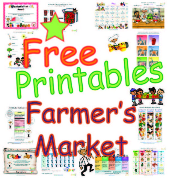 Farmers Market Worksheets and Activities for kids