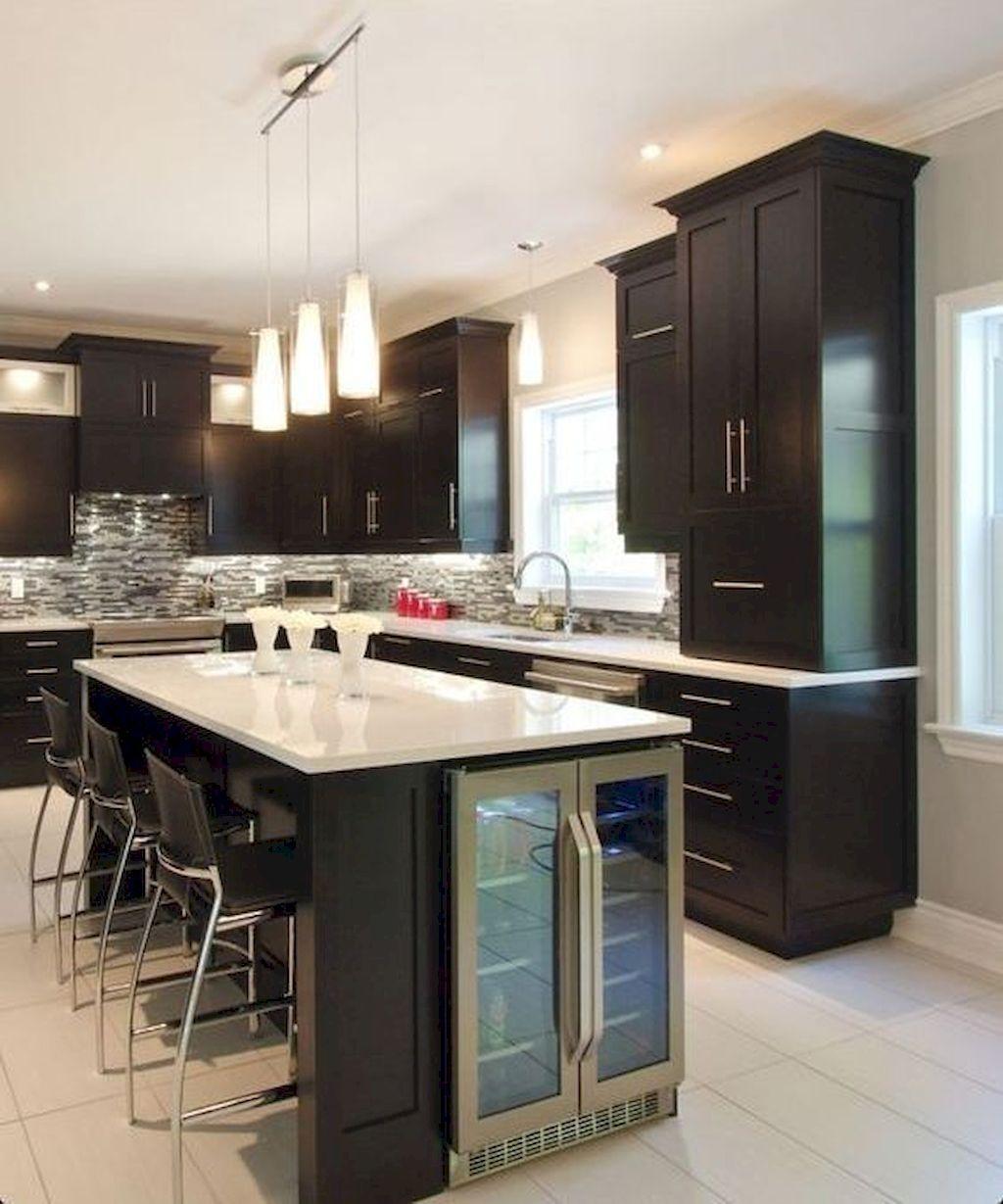 50 Kitchen Island Design Ideas With Marble Countertops Sweetyhomee Diy Kitchen Renovation Kitchen Island Decor Kitchen Island Design