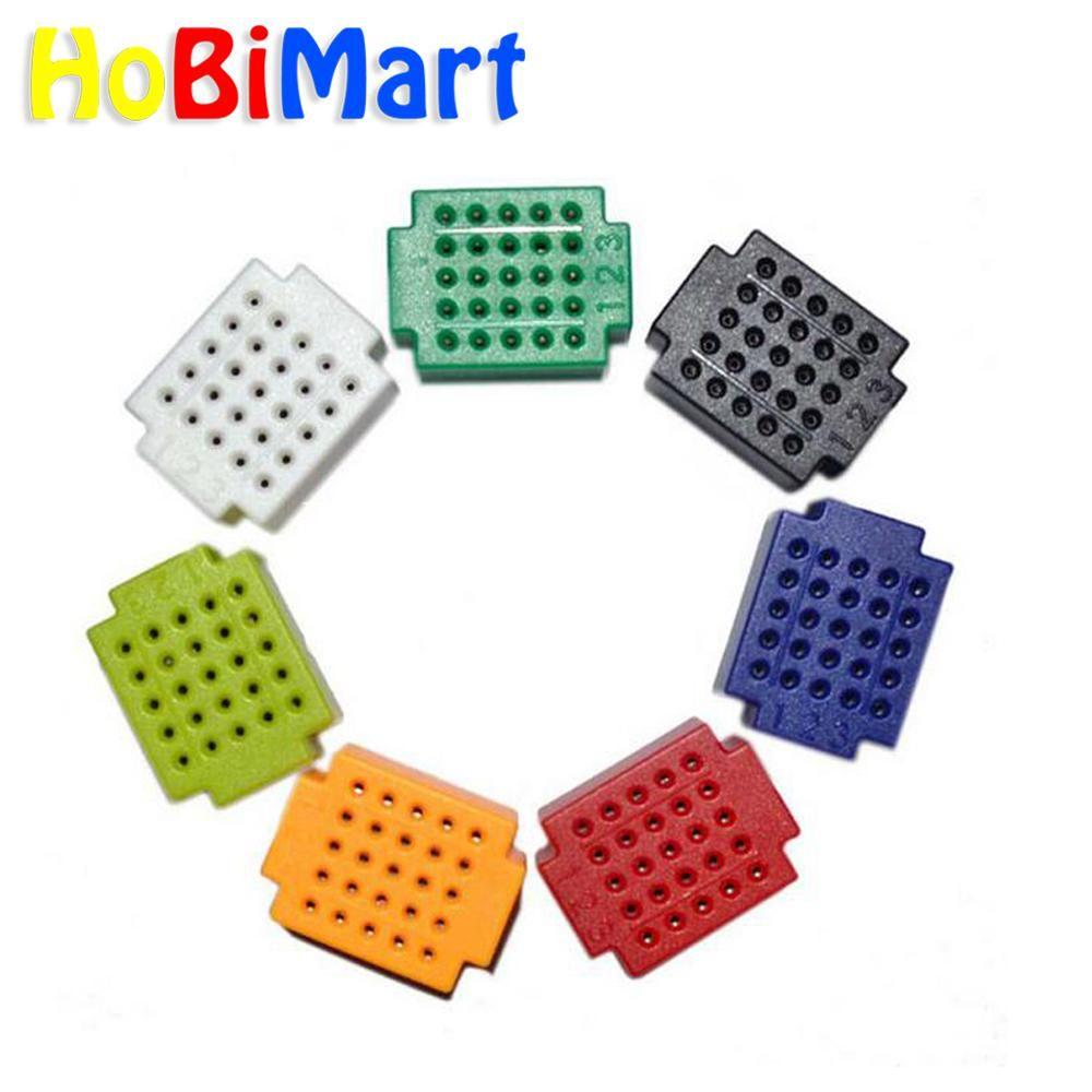 Hobimart Zy25 No Welding Mini Bread Board Pcb Circuit Boards Test Plate 7pcs