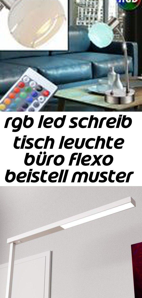 Rgb led schreib tisch leuchte büro flexo beistell muster lampe fernbedienung 1 #afrikanischerstil
