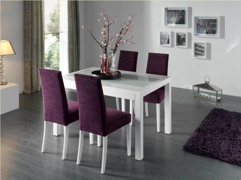 Mesa de comedor moderna laca blanca Zaira | Comedores | Pinterest ...