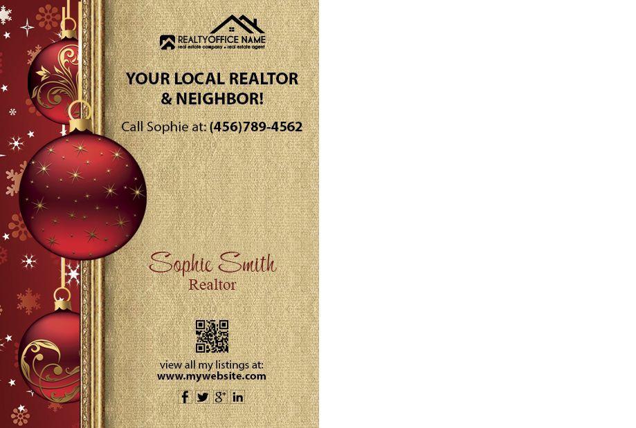 Real Estate Holiday Postcard 01 Real Estate Christmas Postcard 01 Real Estate Postcards Real Estate Holiday Cards Holiday Postcards